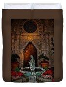 Mission Inn Chapel Fountain Duvet Cover
