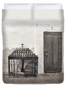 Mission San Diego - Confessional Door Duvet Cover