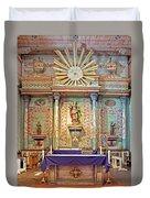 Mission San Miguel Arcangel Altar, San Miguel, California Duvet Cover