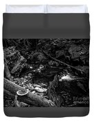 Missisquoi River In Vermont - 2 Bw Duvet Cover