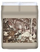 Mississippi Cotton Gin At Dahomey Duvet Cover
