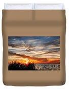 Mississippi Gulf Coast Sunset Duvet Cover