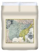 Mississippi Region, 1687 Duvet Cover