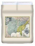 Mississippi Region, 1687 Duvet Cover