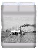 Mississippi River Ferry Boat Duvet Cover