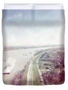 Mississippi River Duvet Cover