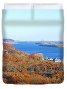 Mississippi Views From Grafton Bluffs Duvet Cover