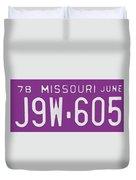Missouri '78 Duvet Cover