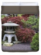 Missouri Botanical Garden A Japanese Snow Viewing Lantern Spring Time Dsc01783 Duvet Cover