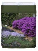 Missouri Botanical Garden Purple Azaleas Dsc01692 Duvet Cover