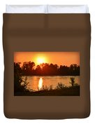 Missouri River In St. Joseph Duvet Cover
