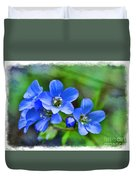 Missouri Wildflowers 5  - Polemonium Reptans -  Digital Paint 1 Duvet Cover