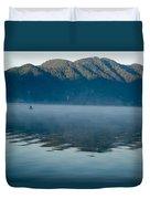 Mist On Lake Atitlan Guatemala Duvet Cover