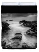Mist On The Water In Monochrome Duvet Cover