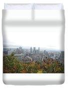 Mist Over Montreal Duvet Cover