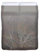 Mist Over The Hudson Duvet Cover