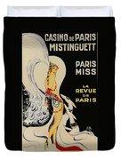 Mistanguette At The Casino De Paris Duvet Cover