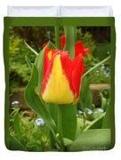 Mister Tulip Waving Salute Duvet Cover