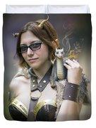 Mistress Of Dragons Duvet Cover