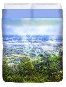 Mists In The Valley Duvet Cover