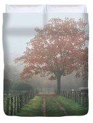 Misty Autumn Morning Duvet Cover