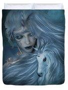 Misty Blue Duvet Cover