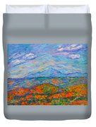 Misty Blue Ridge Autumn Duvet Cover