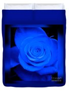 Misty Blue Rose Duvet Cover