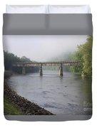 Misty Bridge Duvet Cover