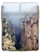 Misty Canyons Duvet Cover