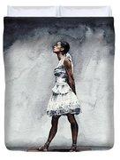 Misty Copeland Ballerina As The Little Dancer Duvet Cover