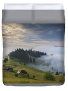 Misty Dawn In The Mountains Duvet Cover