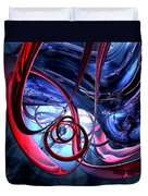 Misty Dreams Abstract Duvet Cover