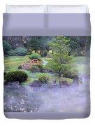 Misty Garden Duvet Cover