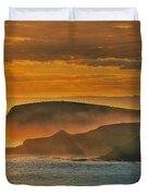 Misty Island Sunset Duvet Cover