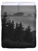 Misty Maine Woods Black And White 2 Duvet Cover
