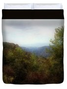 Misty Morn In The Mountains Duvet Cover