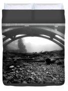 Misty Morning In Black And White Duvet Cover