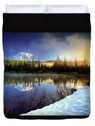 Misty Morning Lake Duvet Cover