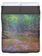Misty Morning Woodscape Two Duvet Cover