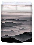Misty Mountain Noir Duvet Cover by Susan Maxwell Schmidt