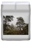 Misty Mountain Path Duvet Cover