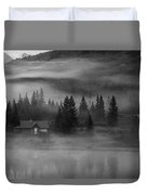 Misty Mountain Reflection Duvet Cover