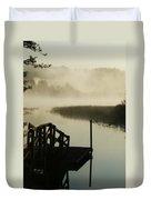 Misty Oregon Morning Duvet Cover