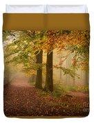 Misty Pathways  Duvet Cover