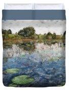 Misty Pond Duvet Cover