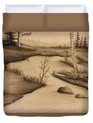 Misty River Duvet Cover by Ricky Haug