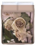 Misty Rose Tinted Dried Roses Duvet Cover