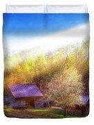 Misty Spring Morning Duvet Cover