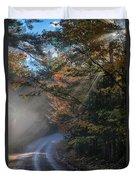 Misty Turn In The Road Duvet Cover